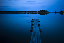 Wall mural - Wooden Pier at Dusk, Sweden