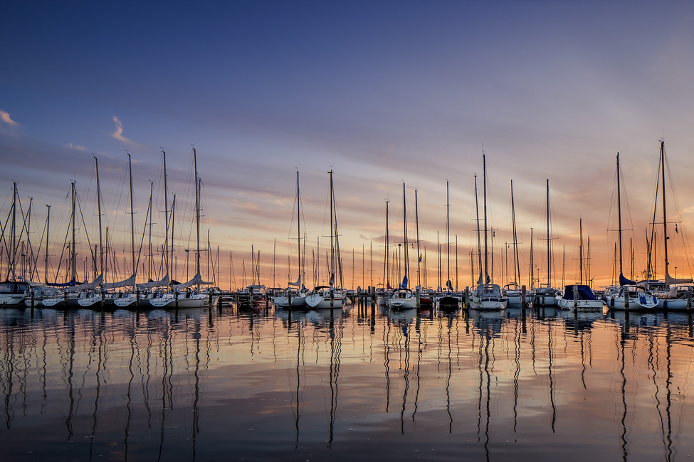 Sailboats in Sunset, Gothenburg Sweden