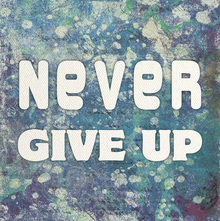 Canvas print - Never Give Up