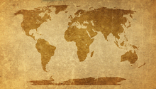 Wall Mural - Sepia World Map