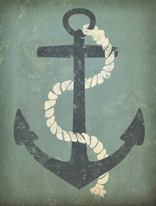 Canvastavla - Nautical Anchor