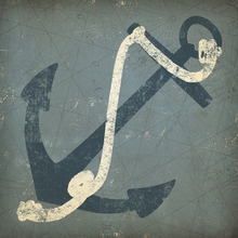 Canvas print - Nautical Anchor 1