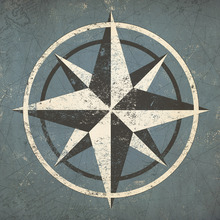 Canvastavla - Nautical Compass