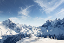 Canvas print - Sunny Alps in Chamonix