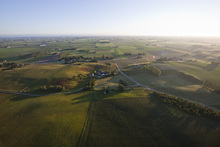 Canvas print - Aerial View of Skåne Countryside, Sweden