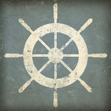 Fototapete - Nautical Shipwheel