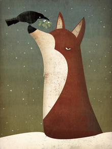 Wall mural - Fox and Mistletoe