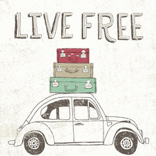Wall Mural - Road Trip - Beetle Luggage