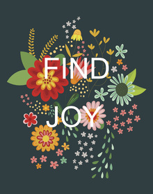 Canvas print - Floral Quote - Find Joy