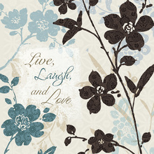 Wall Mural - Live Laugh and Love