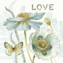 Wall mural - My Greenhouse Flowers - Love