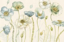 Fototapet - My Greenhouse Flowers on Linen - Cream
