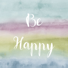 Canvas print - Rainbow Seeds - Be Happy