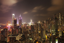 Fototapet - Hong Kong by Night