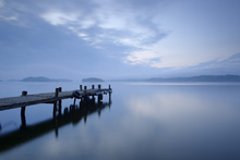 Fototapet - Wooden Pier in Still Lake