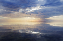 Canvastavla - Sky Mirrored in Baltic Sea