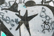 Fototapete - Black Star Graffiti