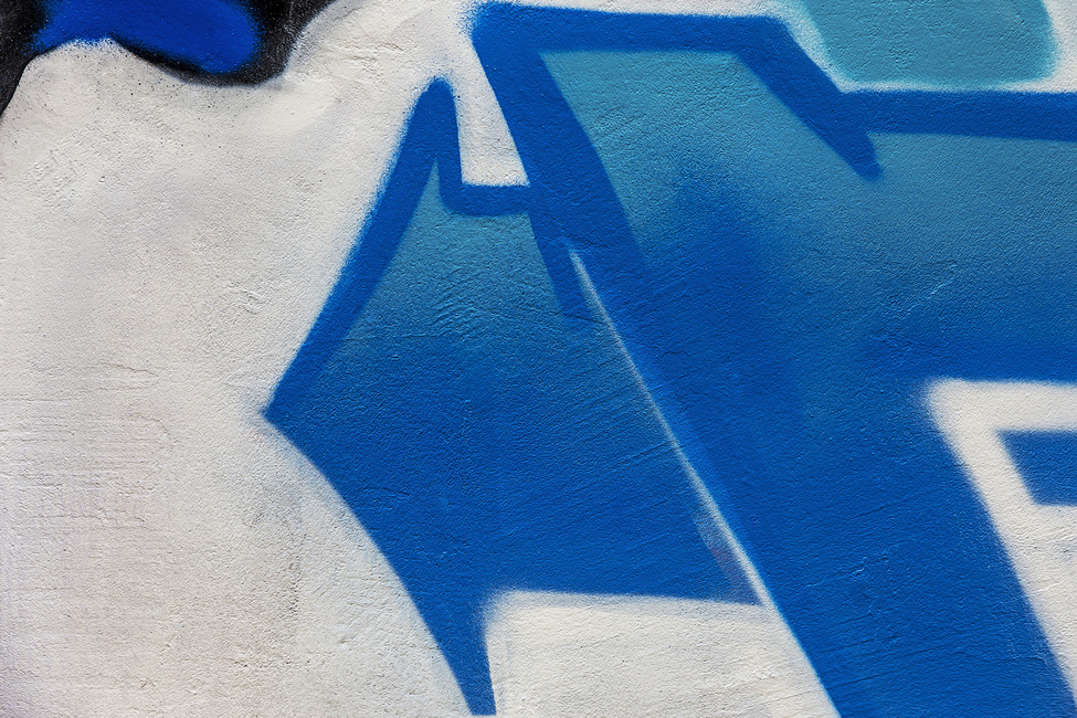 Blue Arrow Graffiti
