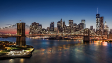 Fototapet - Brooklyn Bridge and Downtown Manhattan