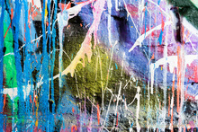 Canvas print - Dripping Paint Graffiti Wall