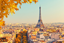 Fototapet - Eiffel Tower Autumn View