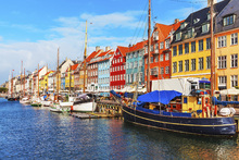 Wall mural - Summer View of Nyhavn Pier