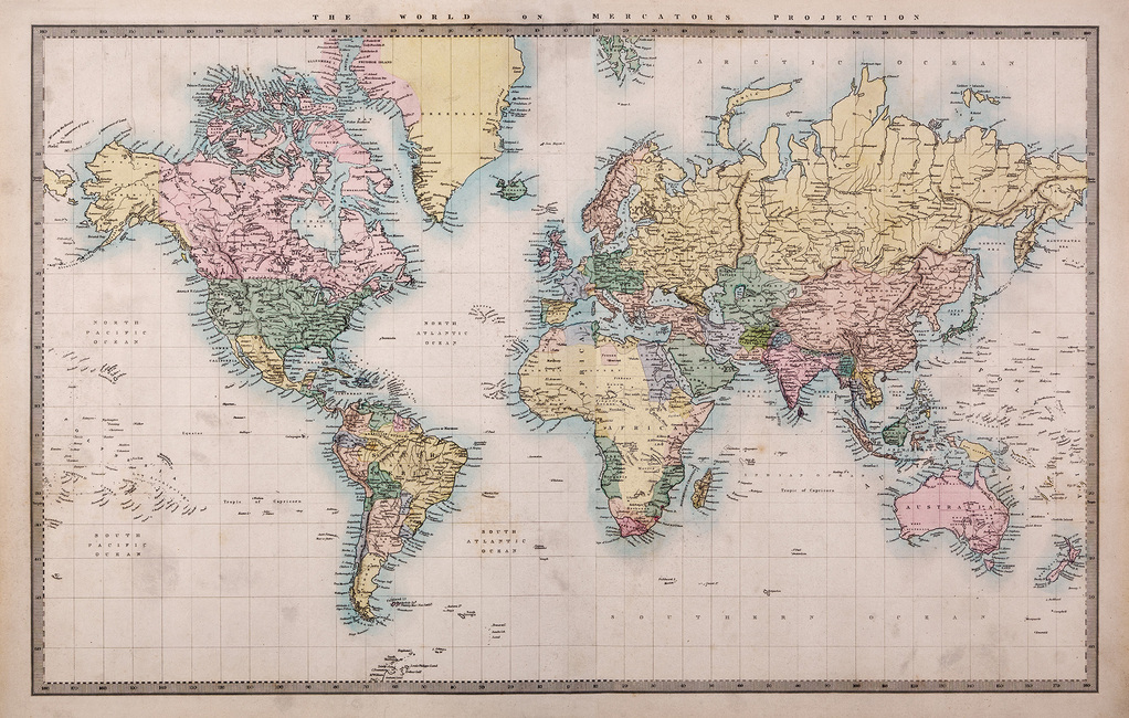 1860 Hand Coloured Map