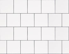 Tapet - White Tiles with Black Grouts 20'20