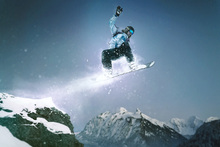 Canvas print - Snowboard Method Grab