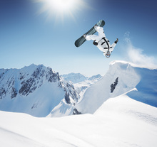 Canvas print - Snowboarder Backflip