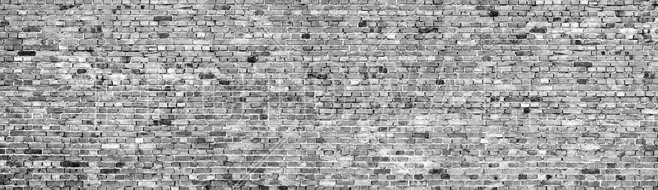Stockholm Brick Wall - Black and White