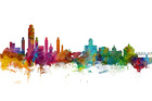 Wall mural - Albany New York Skyline