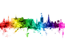 Wall mural - Edinburgh Skyline Rainbow
