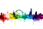 Wall Mural - London Skyline Rainbow 2