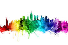 Lerretsbilde - New York Skyline Rainbow 2