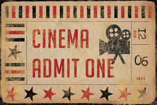 Canvas print - MovieTickets Admit One