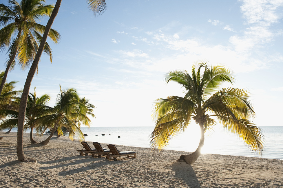Beach in Islamorada in Florida Keys, USA