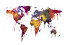 Wall mural - Watercolor World Map 2