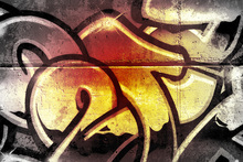 Canvas print - Golden Graffiti
