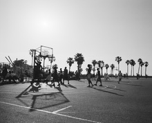 Canvas print - Basketball in the Streets of Los Angeles, California