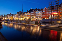 Canvas print - Night in Nyhavn, Copenhagen, Denmark