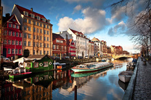 Canvas print - Riverboat in Copenhagen, Denmark