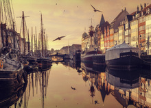 Canvas print - Romantic Copenhagen, Denmark