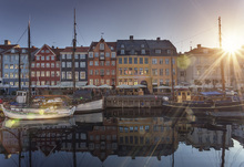 Canvas print - Sunset in Nyhavn, Copenhagen, Denmark