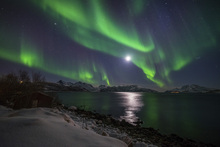 Canvas print - Northern Light over Troms Coast, Norway