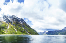 Canvas print - View of Hardangerfjord, Norway