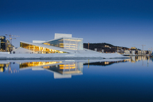 Canvas print - Oslo Opera House by Night