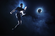 Canvas print - Blue Smoke Soccer