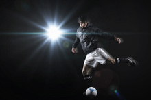 Canvas print - Spotlight Soccer Player
