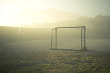 Canvas print - Soccer Field in Sunlight